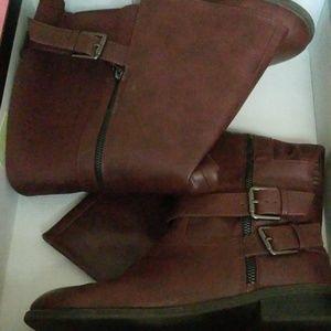 Torrid burgundy boots